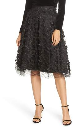 Eliza J 3D Flower Skirt