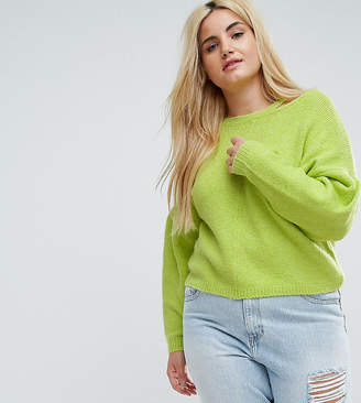 Asos Jumper With Volume Sleeve And Cut Out Neck
