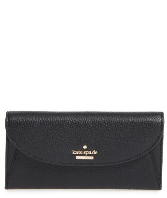 Kate Spade Women's Kate Spade New York Jackson Street - Trista Leather Wallet - Black
