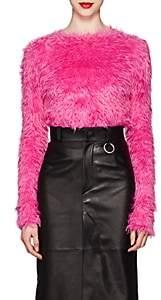 Balenciaga Women's Faux-Fur Long-Sleeve Top-Pink
