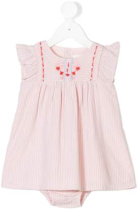 Carrèment Beau embroidered smock romper