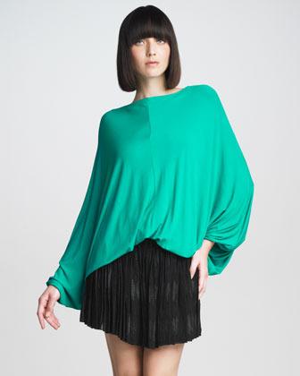 See by Chloe Pleated Metallic Miniskirt