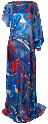 Rosie Assoulin marble print asymmetric dress