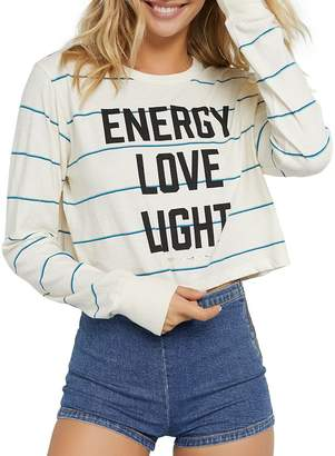 Spiritual Gangster Fiona Energy Striped Cropped Tee