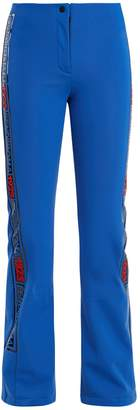 Fendi Side-stripe kick-flare ski trousers