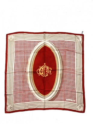 Christian Dior Vintage Red Silk Silk handkerchief