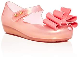 Mini Melissa Girls' Ultragirl Sweet III Metallic Bow Mary Jane Flats - Walker, Toddler $63 thestylecure.com