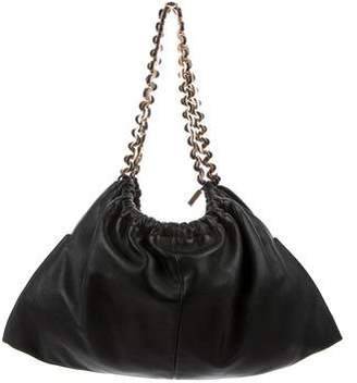 Gianni Versace Pleated Leather Chain-Link Bag