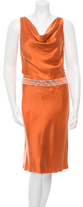 Carmen Marc Valvo Embellished Silk Dress $165 thestylecure.com