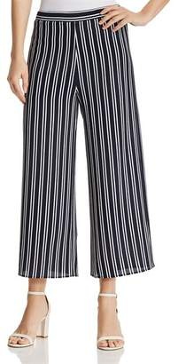 Aqua Striped Cropped Wide-Leg Pants - 100% Exclusive