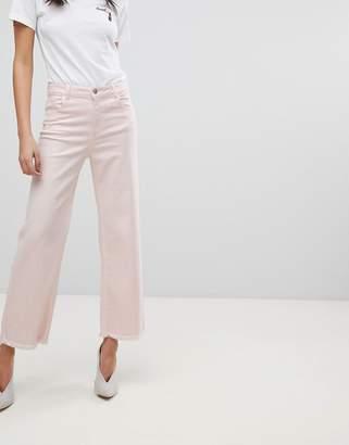 DL1961 Hepburn Crop Wide Leg Jean with Raw Hem