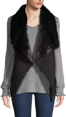 RENVY Faux Fur Flyaway Vest