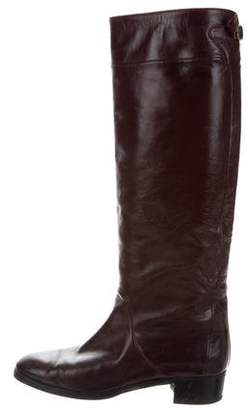 Gucci Round-Toe Riding Boots