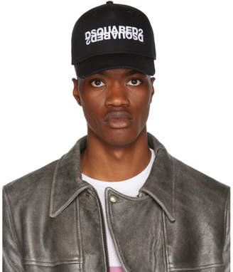 DSQUARED2 Black Double Logo Cap
