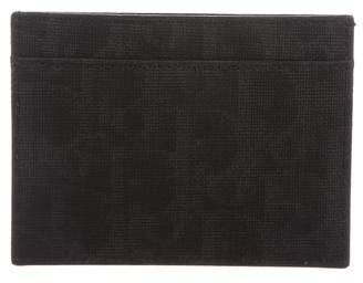 Christian Dior Diorissimo Canvas Leather Card Holder