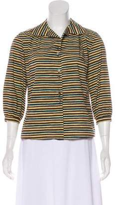 Marni Striped Button-Up Top
