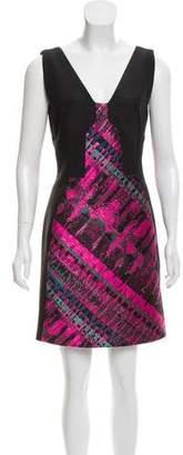 J. Mendel V-Neck Mini Dress