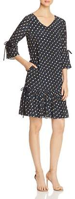 Lafayette 148 New York Anagrace Geometric-Print Silk Dress
