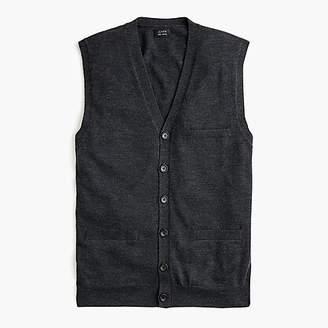 J.Crew Merino wool V-neck cardigan vest