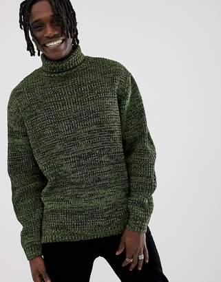 7d7ee1d78037c0 Asos Design DESIGN knitted oversized rib jumper in green