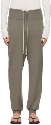 Rick Owens Grey Drawstring Lounge Pants $700 thestylecure.com