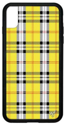 Wildflower Cases Yellow Plaid iPhone Xs Max Case