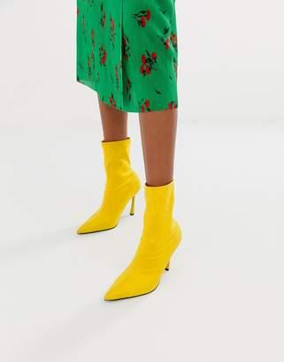 Asos Design DESIGN Esme pointed heeled sock boots