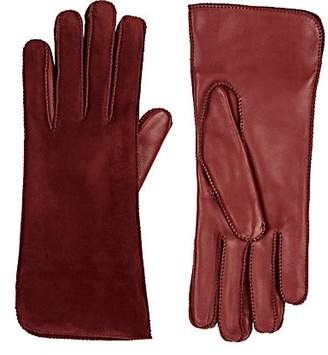 Barneys New York Women's Suede Gloves - Bordeaux