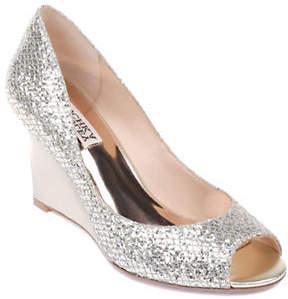 Badgley Mischka Awake Peep-Toe Wedge Shoes