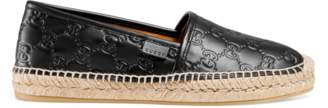 Gucci Signature leather espadrille