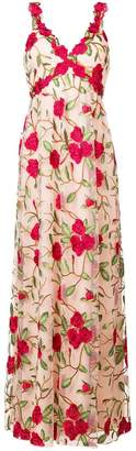 Alice + Olivia Alice+Olivia floral embroidered gown