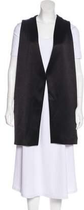 Alice + Olivia Satin Open Front Vest