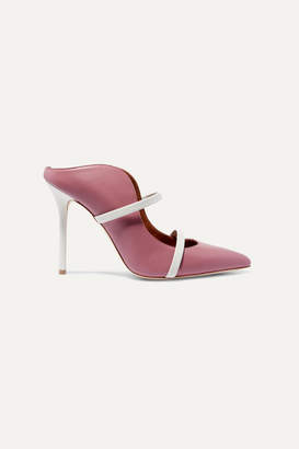 Malone Souliers Maureen 100 Leather Mules - Antique rose
