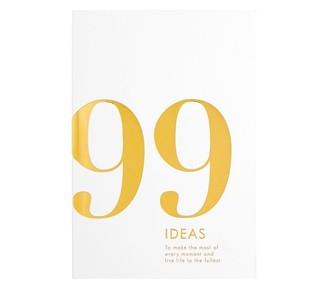 Kikki.K 99 Ideas Book, Time Is Now - White/Gold