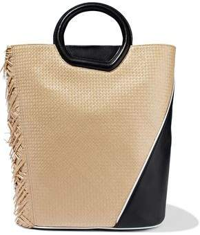 3.1 Phillip Lim Basket Straw And Leather Tote