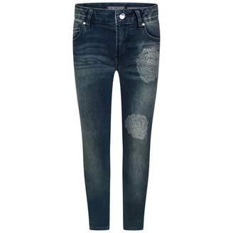 GUESS GuessGirls Blue Denim Flower Jeans