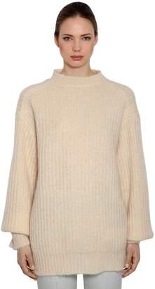Calvin Klein Oversized Mohair Rib Knit Sweater