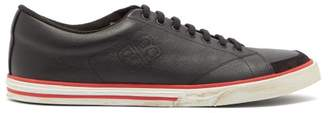 Balenciaga Match Leather Trainers - Mens - Black