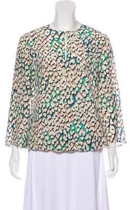 Longchamp Printed Silk Top