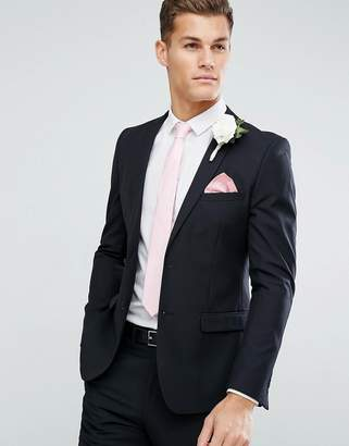French Connection Skinny Wedding Suit Jacket in Black