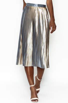 Do & Be Do-Be Metallic Pleat Skirt