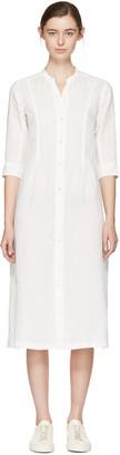 Blue Blue Japan White Linen Shirt Dress $385 thestylecure.com