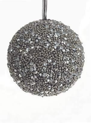 Glucksteinhome Modern Vintage Beaded Glass Ornament Ball