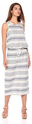 True Grit Dylan by Women's Maritime Cotton Yarn Dye Stripes Casual Tie Sleeveless Dress