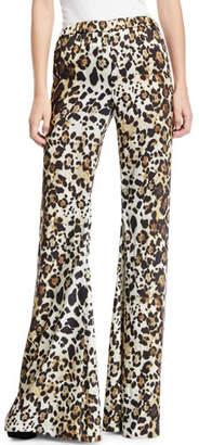 Alexis Ordell Leopard-Print Flare-Leg Pants