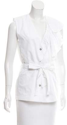 Tome Ruffle-Accented Sleeveless Top