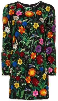 Ashish floral sequin embellished mini dress