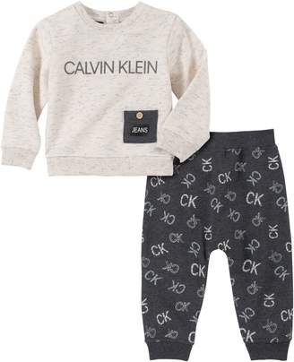 Calvin Klein Baby Boy's 2-Piece French Terry Sweatshirt Jogger Pants Set