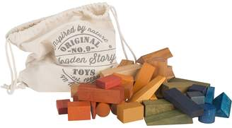 story. Wooden Rainbow Wooden XL Blocks, 50 Pieces