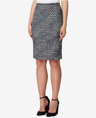 Tahari ASL Boucle Sequin Pencil Skirt